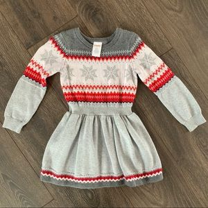 Gymboree Snowflake Knit Winter Dress